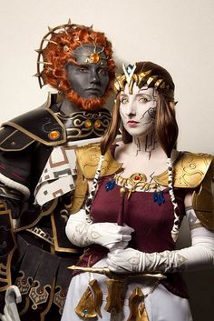Very cool Dark Zelda and Ganondorf from The Legend of Zelda Twilight Princess cosplay, NYAF/NYCC by Anna Fischer