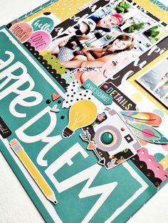 Layout closeup by design team member Vicki Boutin