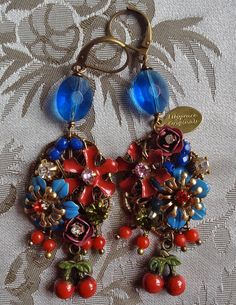 Lilygrace Summer Garden Flower Earrings with by LilygraceOriginals, $55.00