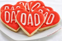 DIY Heart Father's Day Cookies