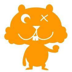 Mampfhamster, orange, Velours-Motiv zum Aufbügeln
