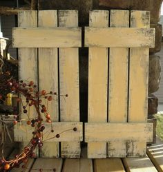 Distressed Wood Shutters Set of 2  Shabby by 3LittleDragonflies, $48.00