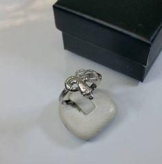 188 mm Ring Schlange Silber 925 Vintage alt von Schmuckbaron