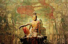 Learn the meaning and benefits of Kuan Yin Mantra (Quan Yin mantra) - Namo Guan Shi Yin Pusa, a pacifying Buddhist mantra. Buddha Kunst, Art Buddha, Gautama Buddha, Buddha Buddhism, Lotus Buddha, Statues, Little Buddha, Arte Tribal, Art Asiatique