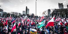Varsavia, manifestazione nel giorno dell'indipendenza.