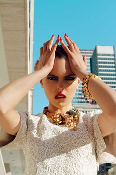 Antia Pagant's 'City Slicker' Editorial is Rawly Energ #fashion #photoshoot trendhunter.com