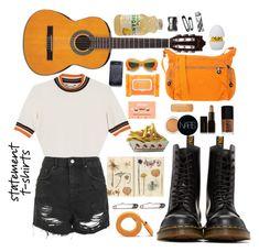 """Orange"" by madcannibal on Polyvore featuring мода, Dr. Martens, Monki, Topshop, Ole Henriksen, NARS Cosmetics, Illamasqua, Kipling, Barlow и Monkey Business"