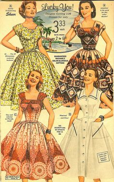 Florida Fashions, Orlando 1950's ~ florida fresh & other slices