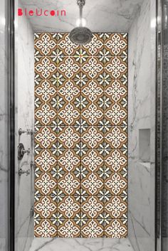 Victorian Moroccan Kitchen/bathroom/ Floor/Tile/wall stickers, Removable : 44 pcs