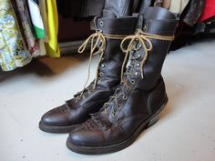 Vintage brown tall roper packer Western by TheDustbowlVintage, £55.00