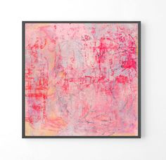 """Large abstract painting, """"Tokyo"""", fine art prints, pastel abstract art, minimalist art print, pastel wall art by PrintSwoon on Etsy"""