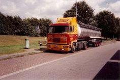 F.T.F. V6 turbo 4x2 met tankoplegger van Gebr Greving in Groningen