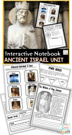 Israel: Ancient Israel Unit for Interactive Social Studies Notebook! This resource is designed for an Ancient Israel unit. History Interactive Notebook, Social Studies Notebook, 6th Grade Social Studies, Social Studies Classroom, Teaching Social Studies, Teaching History, Interactive Notebooks, History Education, Ancient Civilizations Lessons
