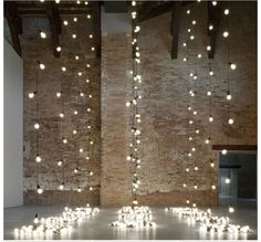 Magical urban sparkly lighted wedding altar