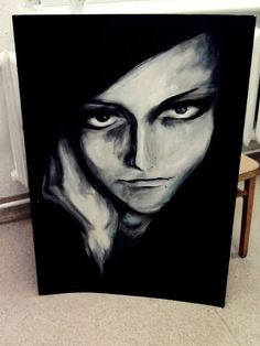 #art #artist #painting #portrait #dark #zombie #macabre #girl #women #death #myart