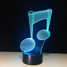 Musical Note 3D Illusion Lamp available in our store: http://bit.ly/3DMusicalNoteLamp  #lamp #3d #3dillusion #music #home #office #bar #light #homedecor #interiordesign #nightlights