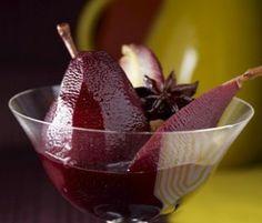 Receta de peras al borgoña Good Food, Yummy Food, Seafood Dishes, Marsala, Bordeaux, Plum, Strawberry, Dessert Recipes, Pudding
