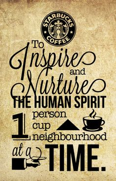 Logo Centric Mixed Type Styles Clip Art Starbucks Mission Statement Typography