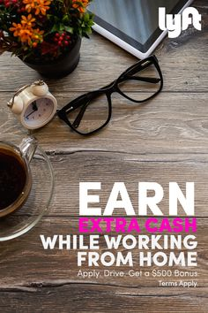 With Lyft, it's easy to make extra cash while working from home - you can earn up to $35/hr plus a $500 bonus after you give 100 rides! See how easy it can be at lyft.com today. *Terms Apply*