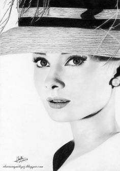 Pencil Drawing Audrey Hepburn by Isabel Morelli