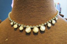 Pretty Vintage Choker Necklace with Peridot by AdoredAnew on Etsy