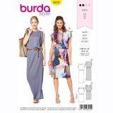 Burda 6414 - Gedrapeerde tricot jurk