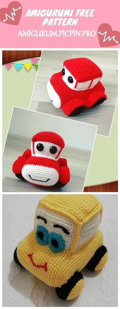 We continue to provide you with the latest recipes related to Amigurumi. Amigurumi classic car free crochet pattern is waiting for you. Applique Patterns, Crochet Patterns, Crochet Toys, Free Crochet, Ruby Red, Classic Cars, Projects To Try, Knitting, Vehicles