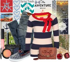"""""""Anchors Away"""" by mandee81 ❤ liked on Polyvore"""