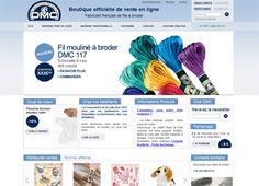 Réalisation du site officielle de vente en ligne de boutique-dmc.fr : Fabricant français de fils à broder.