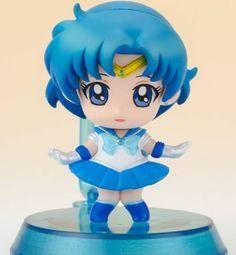 Sailor Mercury Petit Chara Sailor Moon Figure Version A Megahouse Official Japan | eBay