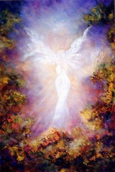 Angel Art Print Greeting Card The Apparition por MarinaPetroFineArt