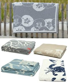 Gift Idea. Give a little luxury! Who wouldn't love one of these beautiful coastal throws!? Featured here: http://www.completely-coastal.com/2015/12/home-decor-gift-ideas-coastal-beach-style.html