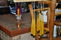 Homemade Christmas Gift Idea: Beeswax Candles - they burn cleaner than store bought strong perfumed candles!   TheHappyHousewife.com