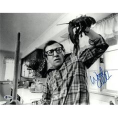 RDB Holdings & Consulting 11 x 14 in. Woody Allen Signed Annie Hall Alvy Singer B&W Photo Horizontal with Lobster- Beckett Holo Woody Allen, Vicky Christina Barcelona, David Chang, Wit And Delight, Comedy, Diane Keaton, Film Director, Film Stills, Mixtape