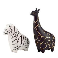 Something Whimsical: Woodland Park Zebra and Giraffe Salt & Pepper Set by Kate Spade New York