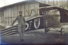 Looks to be a WW I Italian Flyer.  This pic reminded me of the one of Francesco Baracca.