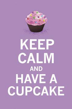 Lavender Cupcake  Art Print