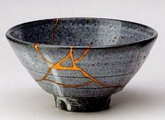 """Kintsugi, which translates as """"to repair with gold,"""" is a philosophy as much as an artistic approach. It reflects the idea that breakage and reassembly is part of the life of an object. In this case, the cracks that almost invariably form in concrete were repaired in the same fashion."""