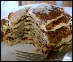 The Dutch Baker's Daughter: Carrot Cake Pancakes with Ginger-Maple Cream