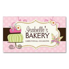 520 best bakery business card templates images on pinterest whimsical bakery business card bakery business cards custom business cards cake business business cheaphphosting Choice Image