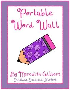 **Awesome TpT freebie treasure discovery!  Meredith Gilbert=Does your word wall take up too much space?  Word walls are such a valuable tool, but with I Can statements, anchor charts and student work, I just ran out of room!  Here is a FREE portable word wall for you to use.  Print, place the pages in plastic sleeves inside a folder and you have a portable word wall ready to go!  (We discuss each page before it is added so students are easily able to find the words they need.)