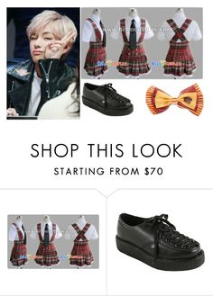 """""""V / GRYFFINDOR"""" by housexofxcards ❤ liked on Polyvore featuring T.U.K."""