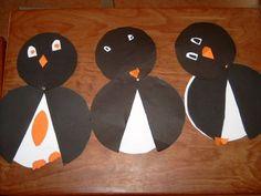 Pinguïn knutselen (platte vlak)