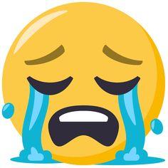 Loudly Crying Face on EmojiOne Smiley Emoji, Ios Emoji, Funny Emoji Faces, Emoticon Faces, Funny Emoticons, Cartoon Girl Images, Emoji Images, Emoji Pictures, Crying Emoji