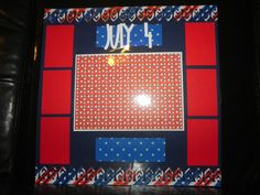 Fourth of July premade scrapbook page by HandCraftedBy2 on Etsy, $5.00