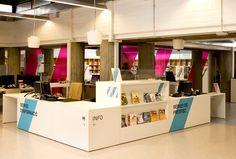 Senyalització Biblioteca Vicente Aleixandre | Txell Gràcia | disseny gràfic | Barcelona