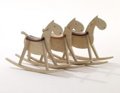 Hobbel' is a sleek, modern rocking horse handmade in the ...