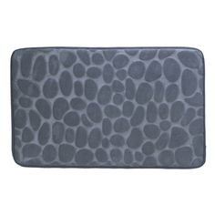 NEW Cushioned Floor Mat Memory Foam Grey Decorative Stone Entry Back Saver Rug  #HomeLocomotion