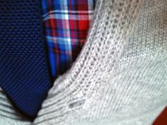winter essentials - knit tie, plaid shirt, wool shawl collar cardigan / men's style