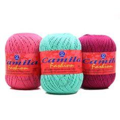 Linha Camila Fashion - varias Cores. Composição: 100% Algodão mercerizado. Também pode ser utilizada para a confecção de trabalhos de decoração e macramê.